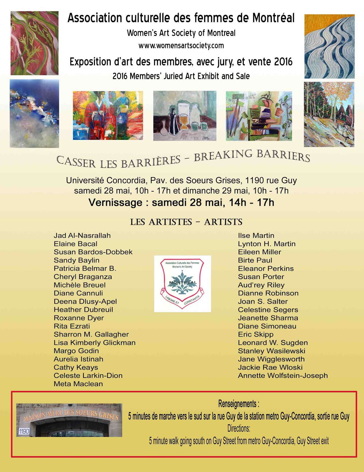 Exhibitions | Artistes Hudson Artists