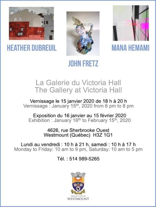 Gallery Invitation - Dubreuil, Fretz & Hemami